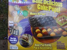 The cake pops pan must be used in a conventional ovenIt makes 12 cake pops at a timeQuick and easy to useUse any cake mix in the little pop pansEasy to cleanOnly used a few times