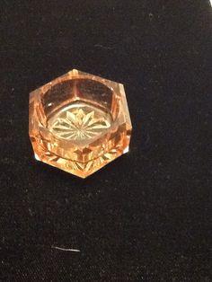 Vintage Depression glass Salt Cellar Dip in rare pink by mslyn2, $20.00