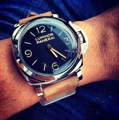 Panerai Luminor #mensfashion #watches #mentrends #accessories #relojes #modahombre #pulserashombre #corbatas #accesorioshombre #complementoshombre #relojeshombre #gemelos #menbracelets #menstyle #shoesformen #lifestyle