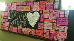 "Valentine's Day bulletin Board ""Love Yourself"" #february #bulletinboard #reslife #ra #selflove"