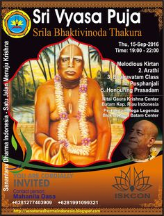 Sanatana Dharma Indonesia: Srila Bhaktivinoda Thakura Appearance Day (Vyasa P...