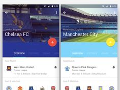 Android L / Material Design - Football