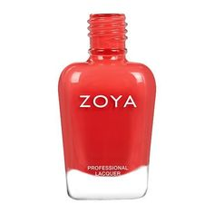 Zoya in Desi is from the Dreamin' collection and can best be described as a vibrant geranium coral cream. Zoya Nail Polish, Nail Treatment, Manicure, Nails, Essie, Coupon Codes, The Balm, Perfume Bottles, Coral