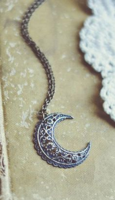 bohemian moon necklace