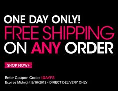 Today Only: FREE Shipping with Avon!