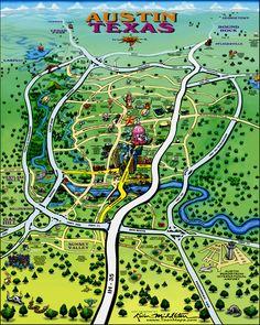 Austin Texas Tourist Map - Austin Texas • mappery
