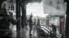 David Benzal Concept artist and Illustrator Oni Samurai, Fantasy Samurai, Fantasy Warrior, Fantasy Rpg, Samurai Warrior, Samurai Artwork, Ghost Of Tsushima, Medieval, Lit Wallpaper