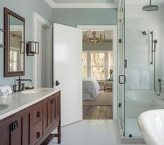 Master Bath Paint Color Gray Cashmere Bathroom White Attic