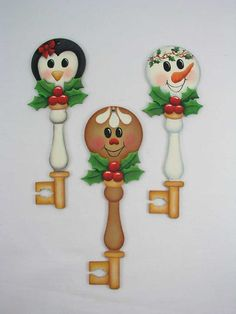 A Stroke of Jeanne-ius  - Holly Honeys Key  Ornaments  E-Pattern, $6.00