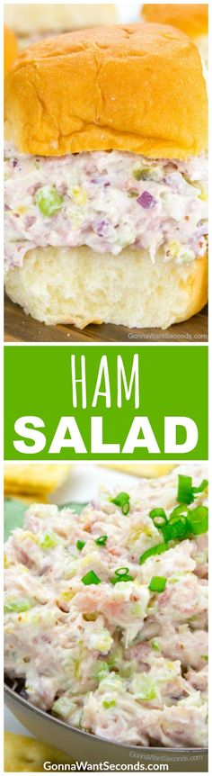 Need a colorful game-changer for your next holiday spread? My Ham Salad is a perfectly balanced masterpiece of salty sweet and spicy with smoky bits of ham and a light creamy base thats destined to top every cracker on your party buffet. Spinach Salad Recipes, Chicken Salad Recipes, Easter Recipes, Appetizer Recipes, Easter Appetizers, Sweet Pickles, Couscous, Farro Salad, Chickpea Salad