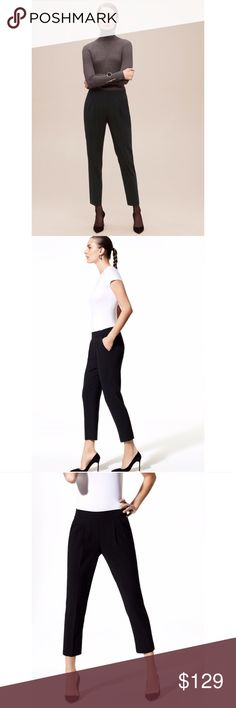 ✨NWOT✨Aritzia Babaton Cohen Pants Designer's Notes The iconic trouser, tailored with Terado™ — Babaton's exclusive Japanese fabric that's matte crepe on one side and smooth satin on the other. Clean lines and polished pleats give this signature style its unparalleled versatility. I DON'T TRADE, DO NOT ASK. Aritzia Pants Trousers