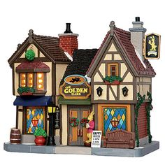 Lemax Village Collection Christmas Village Building  The Golden Hare Tavern