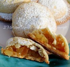 Biscotti cuor di mela fatti in casa ricetta facile e golosa.Confortanti biscotti ripieni con frutta ottimi a colazione o merenda.Sani,genuini,irresistibili!