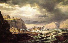 Shipwreck on the Coast of Norway - Dahl Johan Christian