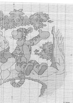 Winnie the Pooh Tall Stories Tigger And Pooh, Winne The Pooh, Winnie The Pooh Friends, Pooh Bear, Disney Cross Stitch Patterns, Cross Stitch For Kids, Cross Stitch Charts, Cross Stitching, Cross Stitch Embroidery