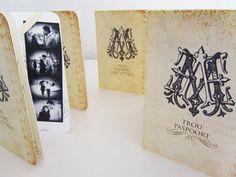 Monogram  Passport Wedding Invitation Cards