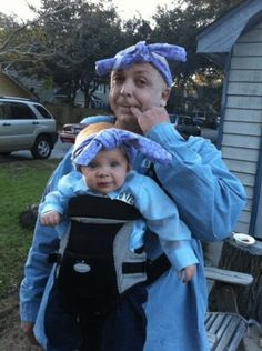 Dad and baby costume.