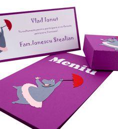 Meniu Botez Madagascar - Gloria Handmade Baby, Baby Shower Invitations, Creative Art, Design, Model, Character, Madagascar, Mathematical Model