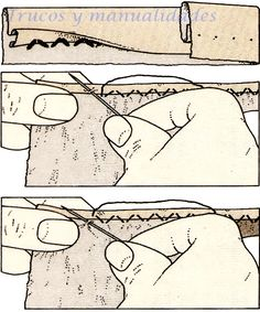 Costura invisible de dobladillo. Se realiza en el borde interior del dobladillo con objeto de que las puntadas queden casi invisibles. Share on FacebookShare on Google+Share on TwitterShare on Pinterest