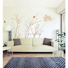 Whisper Branches With Flying Birds Wall Decals