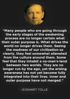 between two worlds Spiritual Awakening, Spiritual Quotes, Wisdom Quotes, Life Quotes, Awakening Quotes, Quotes On Ego, Quotes About Ego, Enlightenment Quotes, Ekhart Tolle
