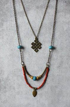 Boho necklace Endless Knot pendant blue red beads double chain - unique trends finds handmade trendy jewelry - unique spiritual woman gift Source by unique Trendy Jewelry, Bohemian Jewelry, Beaded Jewelry, Jewelry Necklaces, Fashion Jewelry, Unique Jewelry, Bracelets, Inexpensive Jewelry, Long Necklaces