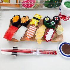 Sushi perler beads by osushizacca