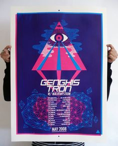 Genghis Tron  Three Layer Screen Print by Macroy