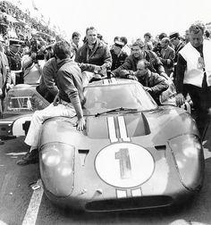 jacqalan:  1967 Le Mans winners, Dan Gurney , A.J. Foyt , Ford Mk IV.