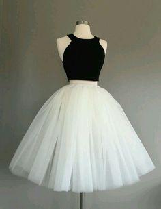 White tulle tutu ballerina outfit Black top