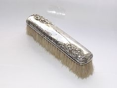 DELIGHTFUL HM VICTORIAN  SOLID SILVER STERLING CLOTHES BRUSH BIRMINGHAM 1898 #HenryMatthews