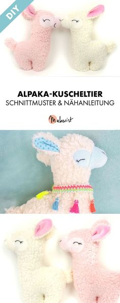 Sew alpaca cuddly toy yourself - pattern and sewing instructions via Makerist . Sew alpaca cuddly toy yourself – pattern and sewing instructions via Makerist. Animal Sewing Patterns, Stuffed Animal Patterns, Diy Stuffed Animals, Craft Patterns, Pattern Sewing, Sewing Toys, Sewing Crafts, Sewing Projects, Fabric Toys