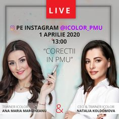 #LIVE on #INSTAGRAM #PMU #PMUCORERECTIONS #traineriColor #anamariamargineanu #ceo&trainericolor #nataliakoldomova #1thApril2020 #dermopigmentology Permanent Makeup, Banners, Advertising, Live, Instagram, Banner, Commercial Music, Bunting