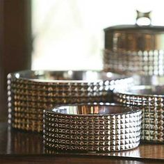 Beautiful stainless fancy dog bowl collection