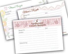 Rezepte für die Nachwelt festhalten & Rezeptkarten free download