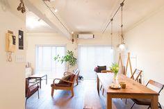 家具のほとんどをご主人が造作。空間との相性もぴったりです