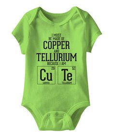 Look what I found on #zulily! Key Lime 'Copper and Tellurium' Bodysuit - Infant #zulilyfinds