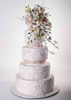 Something Blush, Something Blue: A Pantone-Inspired Wedding Palette - The Wedding Cake - from InStyle.com