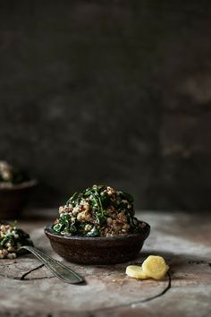 Quinoa with Spinach, Lemon & Ginger #recipe