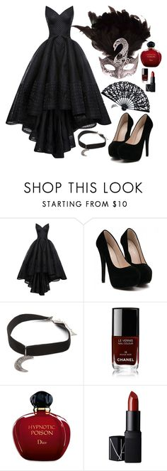 """Masquerade party with B.A.P"" by ebenita95 on Polyvore featuring Zac Posen, Gypsy Warrior, Chanel, Christian Dior, NARS Cosmetics, Masquerade and bap"