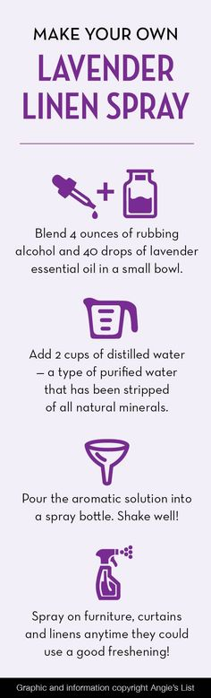 Who doesn't love the smell of #lavender? Make your own lavender linen spray with these simple steps!