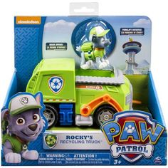 Nickelodeon Paw Patrol Rocky's Recycling Truck With Vehicle and Figure Ages 3 for sale online Paw Patrol Rocky, Los Paw Patrol, Paw Patrol Toys, Spongebob Square, Walmart, Benne, Recycling, Tug Boats, Age 3