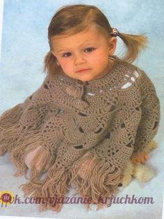 Delicadezas en crochet Gabriela: Poncho de bebé