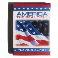 Kritzer Marketing from New York NY USA Patriotic American Flag Playing Cards, Bicycle quality, poker size, stock item. Custom Printed Playing Cards, Soft Cell, Promotional Giveaways, Back Off, May Flowers, Custom Logos, Weekend Is Over, American Flag, Brand Names