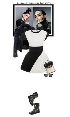 """""""Fridays - 04.12.15"""" by matilda66 ❤ liked on Polyvore featuring FAUSTO PUGLISI, Jimmy Choo, Valentino and Illesteva"""