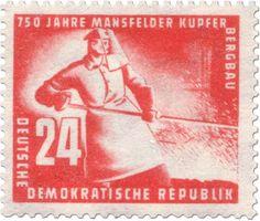 DDR 1950 - 750 años de minería de cobre en Mansfeld