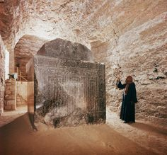 Over a dozen 70 - 300 ton, perfectly cut granite, sarcophagus presumably made for bulls have been found with no remains inside them. The labyrinth of tunnels is called the Sarapeum of Saqqara in Egypt.