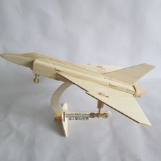 Wooden 3D Puzzle Jigsaw Puzzle Intelligence Toys Handmade DIY Assembling Plane Model $7.00
