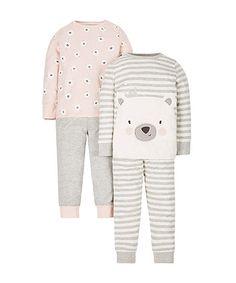 Polar Bear Pyjamas - 2 Pack