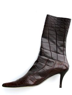 Gorgeous Walter Steiger 100% AUTH Crocodile Boots available at Luxury    Vintage Madrid 14e65715f2c